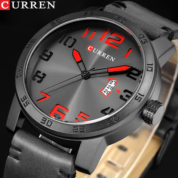 NEW CURREN Brand Luxury Men Sport Watches Men's Quartz Clock Man Army Military - Beltran's Enterprise