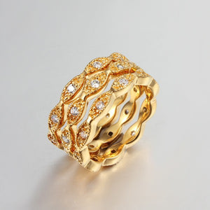 YHAMNI Top Quality Girl's Gold Color Full CZ Diamant Finger Rings For Women - Beltran's Enterprise