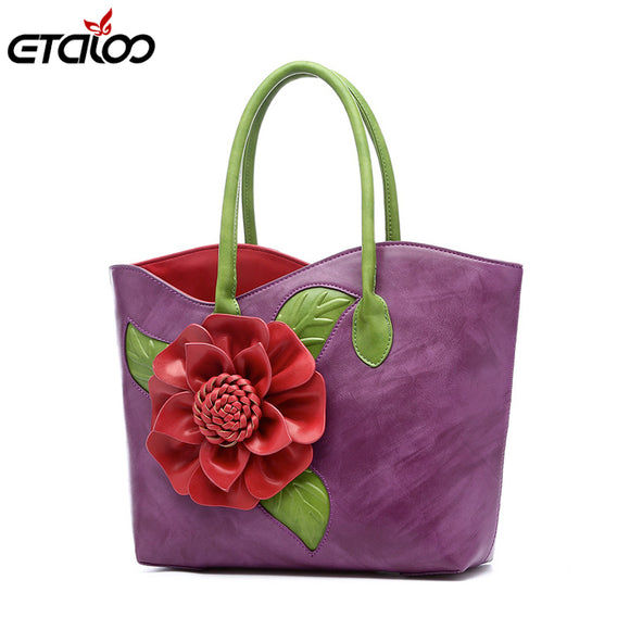 Women handbag Messenger bag handmade flower bag adies bag top-handle bags - Beltran's Enterprise