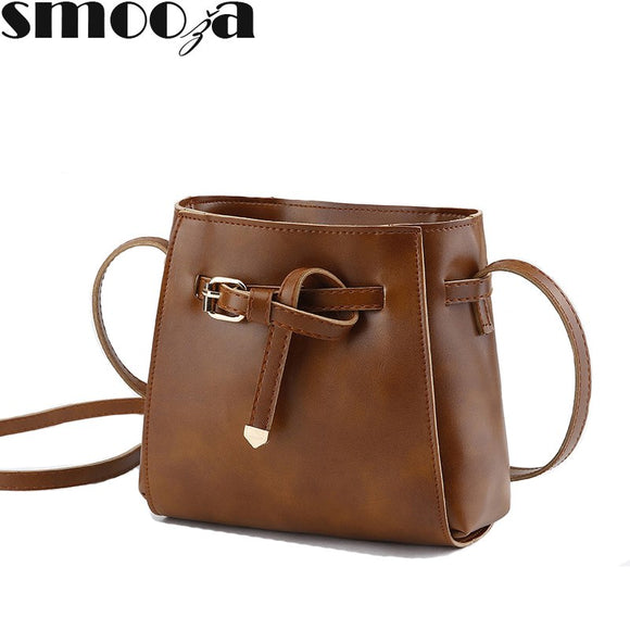 SMOOZA Small Bucket bags for women 2018 Women's Shoulder bag luxury brand leather - Beltran's Enterprise