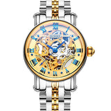 Switzerland luxury Women's watches BINGER brand Skeleton Mechanical Wristwatches sapphire Genuine - Beltran's Enterprise