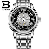 Men's Watch Waterproof Switzerland Men Watches Automatic Mechanical Binger Luxury Brand - Beltran's Enterprise