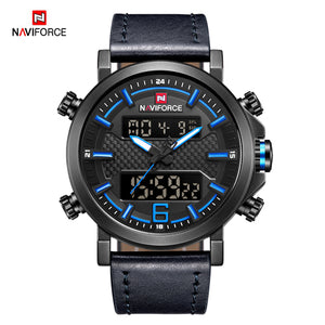 2018 NAVIFORCE New Men's Fashion Sport Watch Men Leather Waterproof Quartz Watches Male Date LED Analog - Beltran's Enterprise