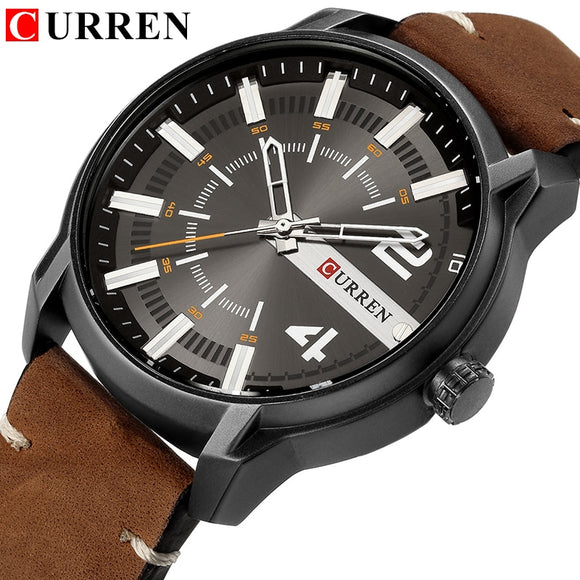 CURREN 8306 Top Brand Luxury Sport Watch Men Leather creative Quartz - Beltran's Enterprise