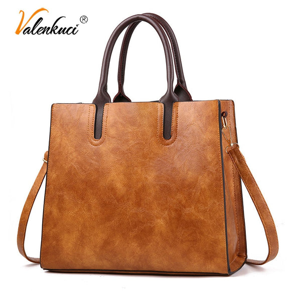 Famous Brand Designer Handbags Leather Bags Women Large Capacity Vintage Hand Top-Handle Bags - Beltran's Enterprise