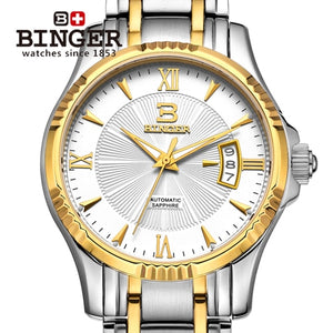 Japan MIYOTA Auto Mechanical Movement relogio masculino Switzerland Men's Watch BINGER - Beltran's Enterprise