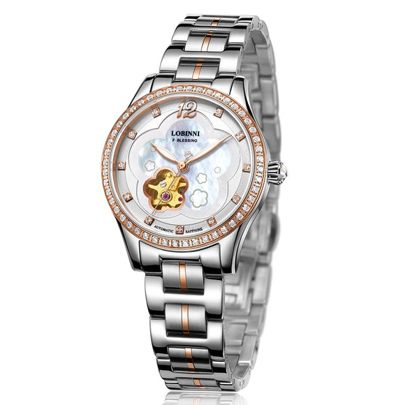 New Luxury Brand Switzerland LOBINNI Women Watches Japan MIYOTA 8N24 Automatic Mechanical Clock - Beltran's Enterprise