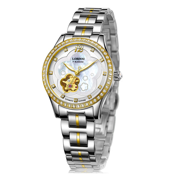 New Switzerland LOBINNI Women Watches Luxury Brand Japan MIYOTA 8N24 Automatic Mechanical Clock - Beltran's Enterprise
