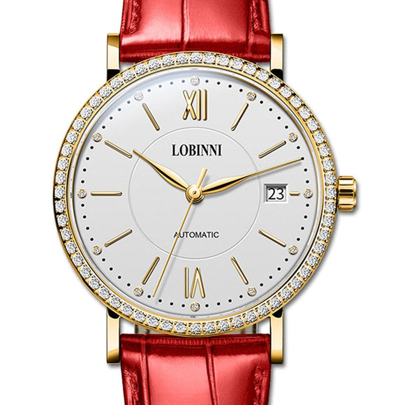 Switzerland LOBINNI Watch Women Luxury Brand Miyota Automatic Mechanical Wristwatches Sapphire - Beltran's Enterprise