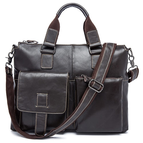 WESTAL genuine leather men's briefcase luxury man bag - Beltran's Enterprise