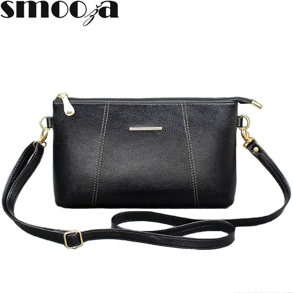 SMOOZA Litchi Pattern PU Leather Shoulder Bag Fashion Handbags Women Crossbody Messenger Bags - Beltran's Enterprise