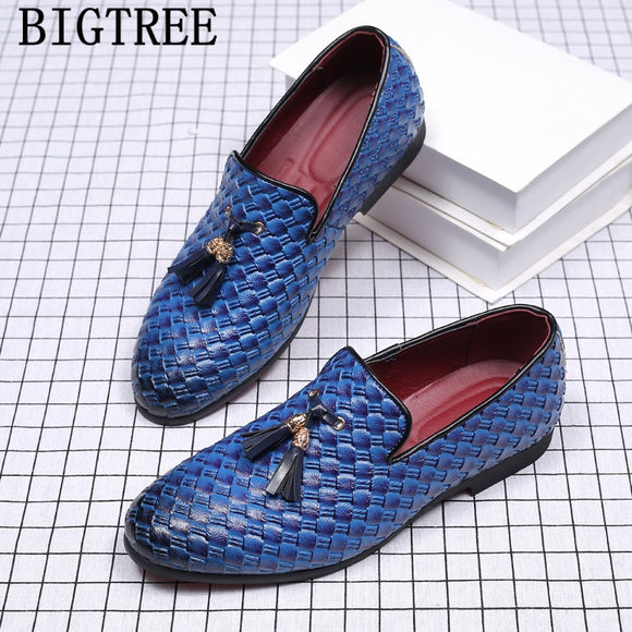luxury brand tassel formal shoes men loafers italian wedding shoes men dress new arrival 2019 - Beltran's Enterprise