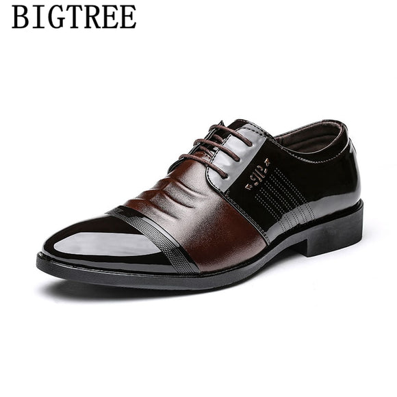 dress shoes men patent leather shoes men oxford zapatos de hombre de vestir formal office shoes men - Beltran's Enterprise