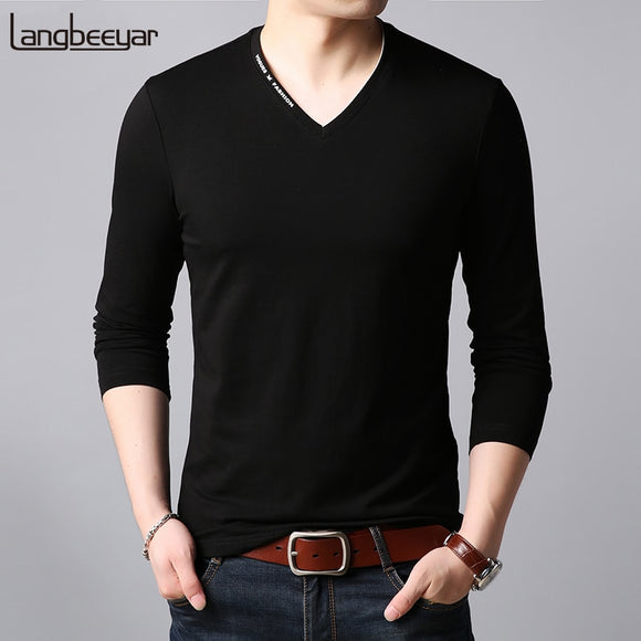 2019 New Fashion Brand T Shirts Men V Neck Trending - Beltran's Enterprise