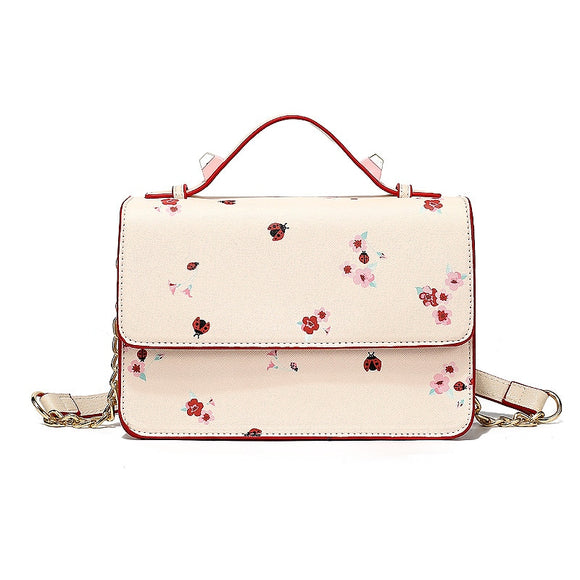 2019 New Women's Simple Pink Floral Print Messenger Bag - Beltran's Enterprise