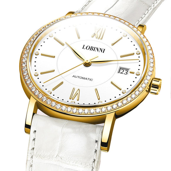 Switzerland LOBINNI Women Watches Luxury Brand Miyota Wristwatches Automatic - Beltran's Enterprise