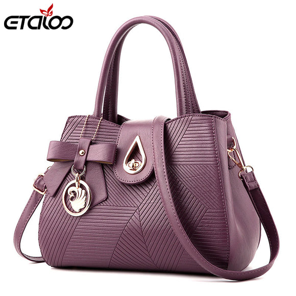 Women Handbag High Quality PU Leather Totes Brief Bags Women Shoulder Bag - Beltran's Enterprise