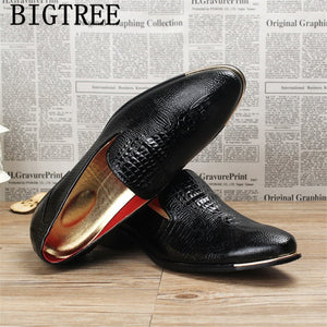 italian coiffeur formal shoes men classic crocodile shoes men suit shoes wedding dress loafers - Beltran's Enterprise