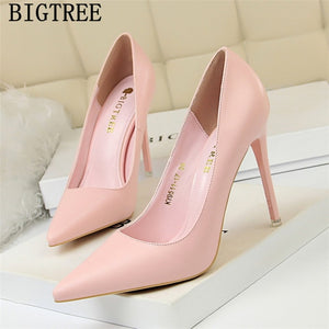 extreme high heels bigtree shoes wedding shoes bride women pumps red heels office shoes women - Beltran's Enterprise