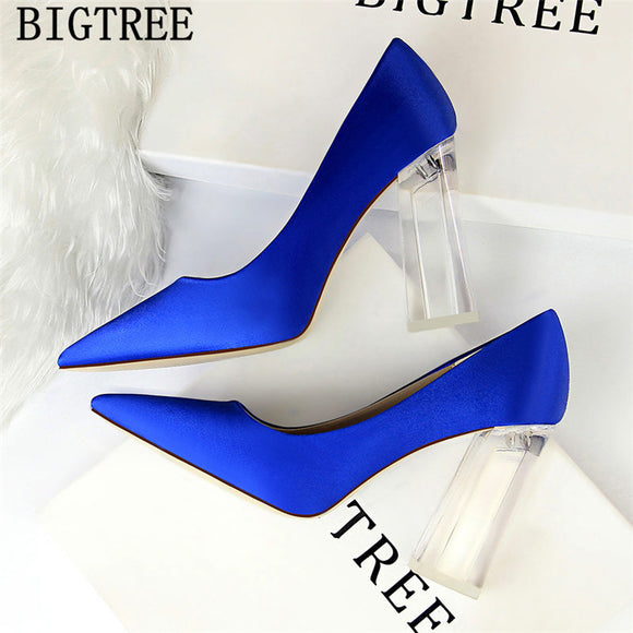 Wedding Shoes Bride Thick Heel Bigtree Shoes Clear Heels New Arrival 2