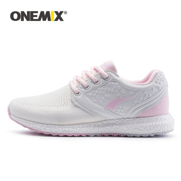 Onemix running shoes for women sneakers women breathable cool mesh space PU outdoor - Beltran's Enterprise