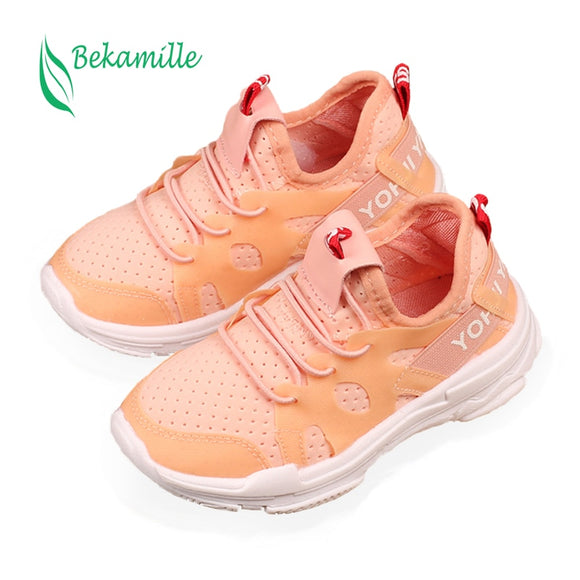Bekamille Spring Autumn Children Shoes Casual Sneakers Fashion Solid Color Girls Baby Net Breathable - Beltran's Enterprise