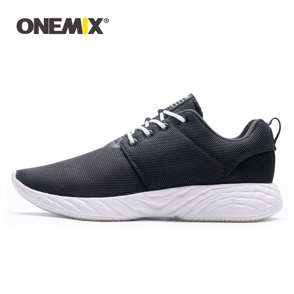 ONEMIX 2019 New Women Sneakers Platform Black Shoes Lightweight Cushion Sports Running Shoes - Beltran's Enterprise