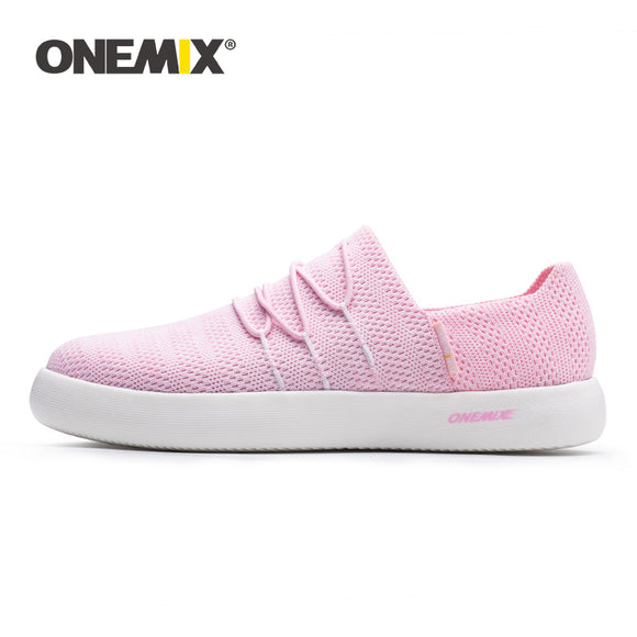ONEMIX Flat Shoes Women Sneakers 2019 Summer Breathable Lightweight Slip On Lazy Shoes - Beltran's Enterprise