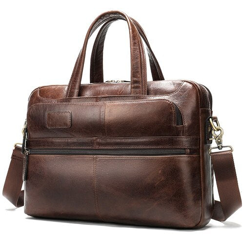 WESTAL men's briefcase bag men's genuine leather laptop bag - Beltran's Enterprise