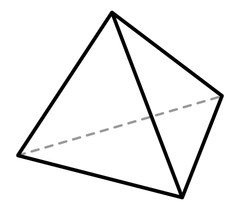 Fire as a Platonic Solid: Tetrahedron