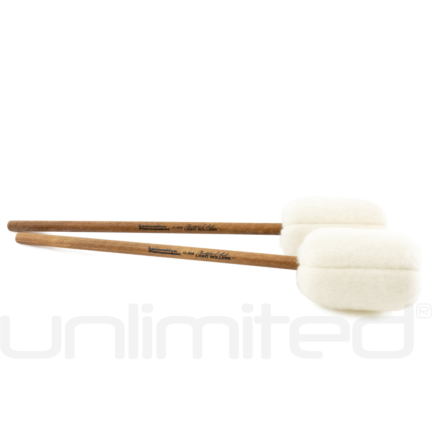 CLBD8 Pair Concert Bass Drum Innovative Percussion Christopher Lamb Series Light Rollers