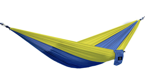 Tree Sack Hammock - Deep Blue on Yellow (Single)