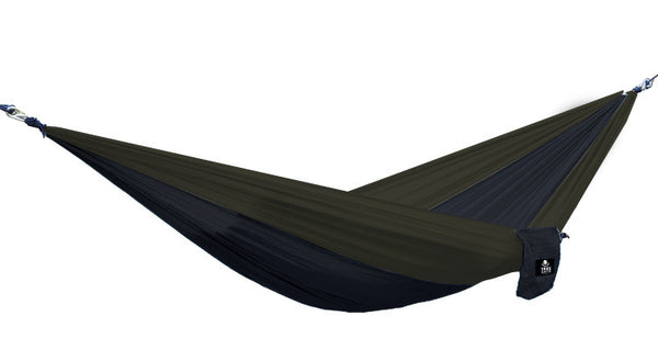 Tree Sack Hammock - Black on Grey (Single)