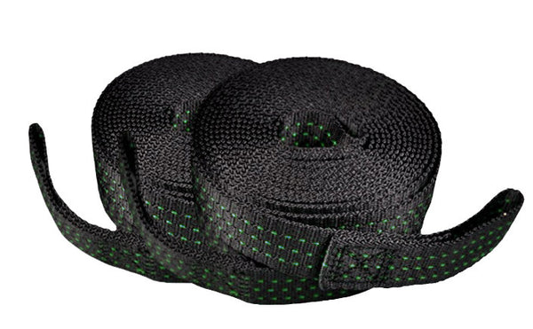Tree Sack Hammock Straps (Green Stitching)