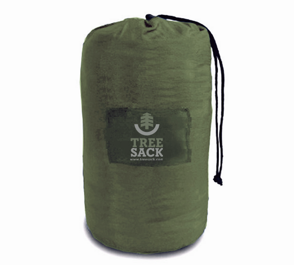 Tree Sack Hammock - Khaki on Army Green (Double)