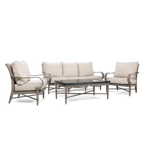 Saylor 4 Piece Seating Set (Sofa, Coffee Table, 2 Stationary Lounge Chairs)