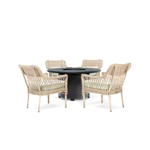 Vesta Fire Table with Colfax Seating