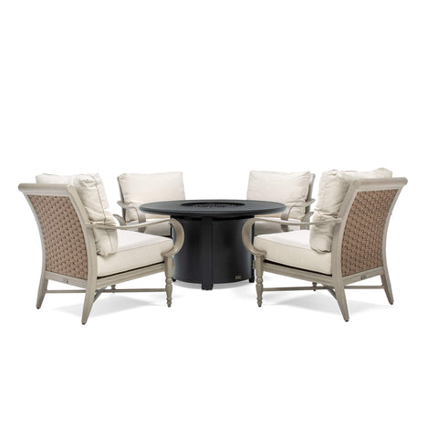 Vesta Fire Table with Saylor Seating