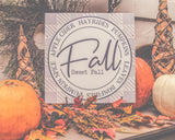 Fall with Buffalo Check Stencil for painting signs