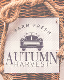 Autumn Harvest with Truck Stencil Buffalo Plaid