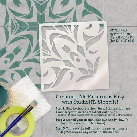 How To Use Tile Stencils by StudioR12