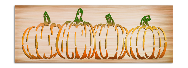 Pumpkins in A Row Stencil by StudioR12 | DIY Simple Rustic Fall Seasonal Harvest Gift | Craft Farm Fresh Thanksgiving Halloween | Paint Wood Sign | Reusable Mylar Template | Select Size | STCL3021