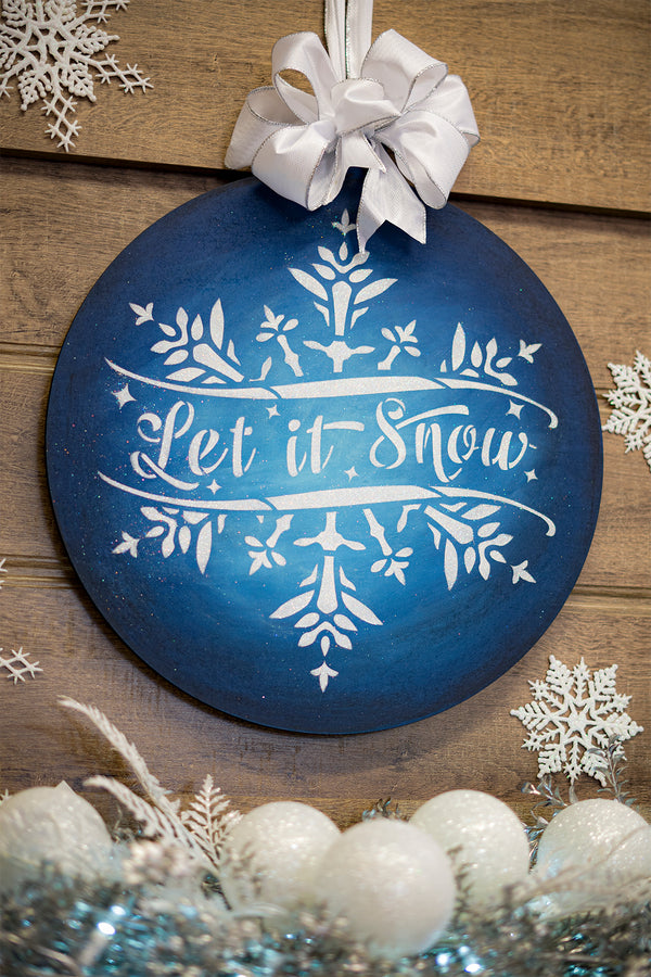Let it Snow Glitter Ornament Deluxe Project Set - CMBN490