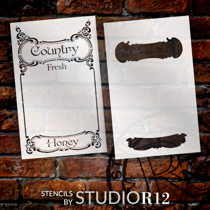 antique,   			                 bee,   			                 country,   			                 honey,   			                 Stencils,   			                 Studio R 12,   			                 StudioR12,   			                 StudioR12 Stencil,   			                 Template,   			                 vintage,
