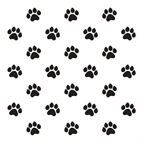 Paw Prints Stencil by StudioR12 | Animal Fun Repeating Pattern Art - Small 6 x 6-inch Reusable Mylar Template | Painting, Chalk, Mixed Media | Use for Journaling, DIY Home Decor - STCL705_1