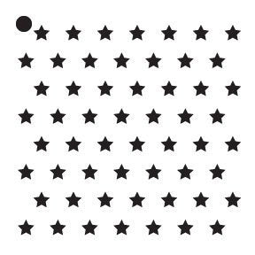 "1/4"" Stars Stencil by StudioR12 