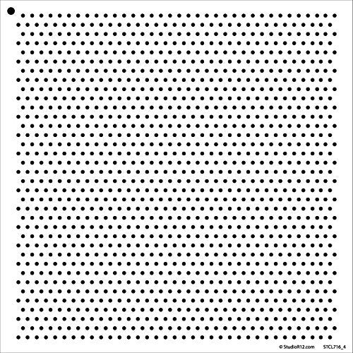 Art Stencil,   			                 Background,   			                 Circle,   			                 Circles,   			                 Dot,   			                 Mixed Media,   			                 Multimedia,   			                 Pattern,   			                 Pattern Stencils,   			                 Polka,   			                 Polkadot,   			                 Small,   			                 Stencils,   			                 Studio R 12,   			                 StudioR12,   			                 StudioR12 Stencil,