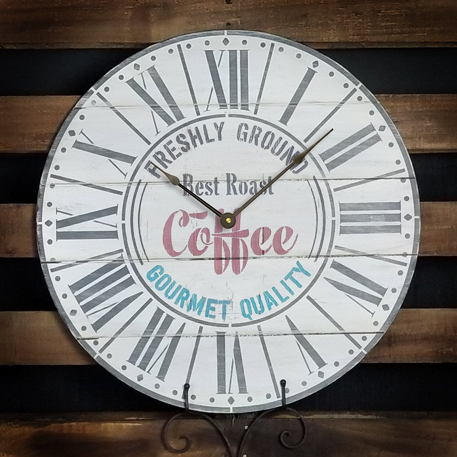 Round Coffee Clock Stencil Parisian Roman Numerals Diy Painting Rustic Wood Clocks Small To Extra Large For Home Decor Select Size 24 2