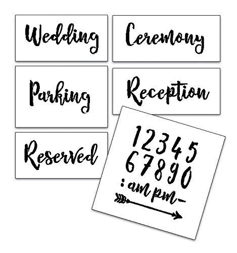 Wedding Stencil Words - Locations - Rustic Script 6pc Small Set - STCL1591_1 by StudioR12