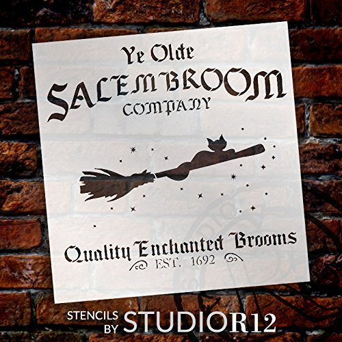 "Salem Broom Co. - Word Art Stencil - 15"" x 15 1/2"" - STCL1281_2 by StudioR12"